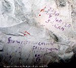 Inscriptions– Inscriptions written in the underground wall at Loos before the battle at Hill 70 on August 15, 1917.