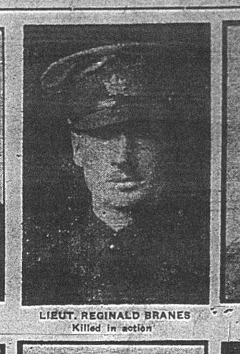 Newspaper Clipping– Picture of Lieutenant Reginald Brooke Barnes from the Calgary Herald, 25 September 1916, pgs 1 & 5. Via Marika Pirie post at the CEFSG.