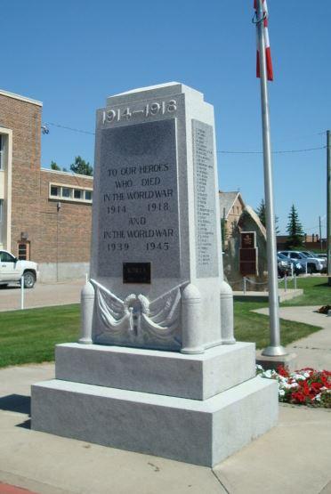 War Memorial– MacLeod, Alberta War Memorial via Marika Pirie post at the CEFSG.