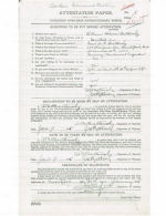Attestation papers– Front of Attestation Paper of William Falconer BATTERSBY who enlisted on 7 Jan 1917 in Montreal, Quebec, Canada.