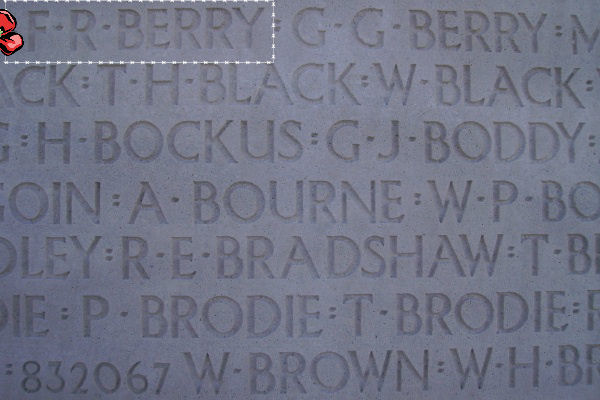 Inscription– Inscription - Vimy Memorial, photo courtesy of Marg Liessens.