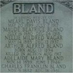 Family Monument– Pte. Arthur Alfred Bland's name is included on his family monument at Mount Pleasant Cemetery in Toronto, Ontario.