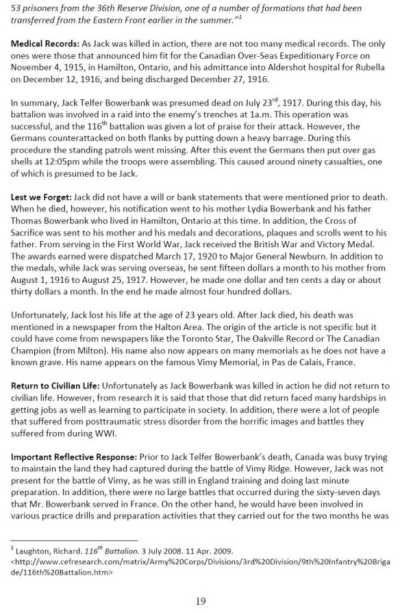 Oakville Remembers Biography (Page 4)