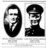 Coupure de presse (2) – Coupure de presse du Renfrew Mercury du 27 octobre 1916.