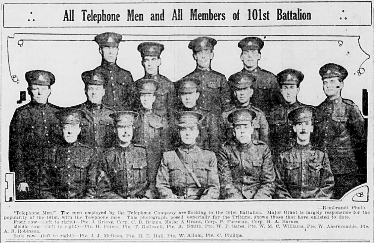Newspaper Clipping– In memory of the men and women memorialized on the pages of the Winnipeg Evening Tribune during World War One. Submitted for the project, Operation: Picture Me