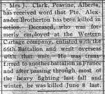 Newspaper clipping– GRAND PRAIREY HERALD SEPTEMBER 18 1917