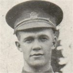Photo of Wesley Charles Burnard– Enlisted March 16, 1916 wtih the 135th Battalion. Transferred to the 18th Battalion, killed in action at Vimy Ridge.