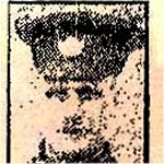 Newspaper Clipping– Pte. George E. Burt was born in London, England.