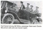 Group Photo– Robert Earl Calvert driving with his Uncle Joe Calvert and cousin Charlie McClennon in the back seat.