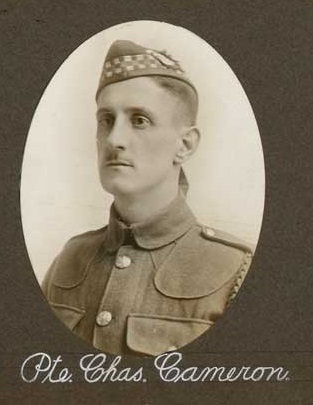 Photo of Charles Coutts Cameron– Pte C. Cameron submitted by 15th Bn Memorial Project Team