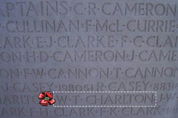 Inscription– Inscription - Vimy Memorial, photo courtesy of Marg Liessens.