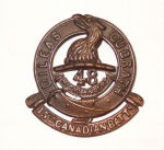 Cap Badge– Cap Badge 15th Bn (48th Highlanders of Canada) CEF.  Photo submitted by Captain (retired) Victor Goldman, 15th Bn Memorial Project Team.  DILEAS GU BRATH