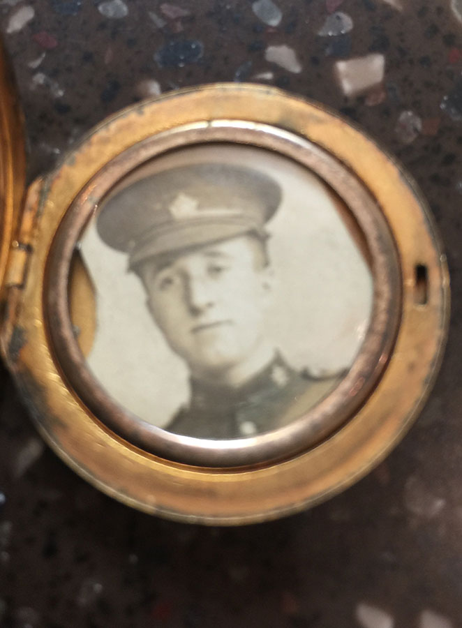 Photo of Sydney Clegg– Sydney Clegg (photo was carried in a locket by his sister Eva Clegg Wilson)