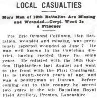 Newspaper clipping– From the Daily Colonist of July 29, 1915. Image taken from web address of https://archive.org/stream/dailycolonist57y198uvic#mode/1up