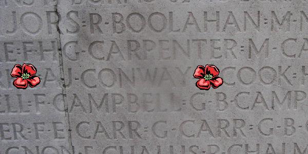 Inscription– Inscription - Vimy Memorial … photo courtesy of Marg Liessens