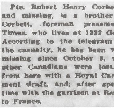 Newspaper clipping– From the Daily Colonist of January 5, 1917. Image taken from web address of http://archive.org/stream/dailycolonist59y22uvic#page/n0/mode/1up