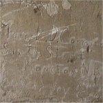 Inscription – Inscription sur le mur de l'église d'Ecoivres au nord ouest d'Arras