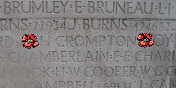 Inscription– Inscription - Vimy Memorial … photo courtesy of Marg Liessens
