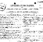 Feuille d'engagement (face) – (Source: Bibliothèque et Archives Canada. Soldats de la Première Guerre mondiale).