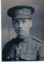 Photo of Ernest John Dorken– Pte Ernest John Dorken of Woodstock Ontario, B Coy, 18th Battallion, Killed in Action 28 May 1917,  Age 21. Never Forgotten