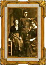 Family Photo– Edward Fegan with his sisters Dorothy and Evelyn.  Back home on leave to England