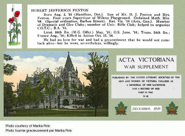 Acta Victoriana War Supplement