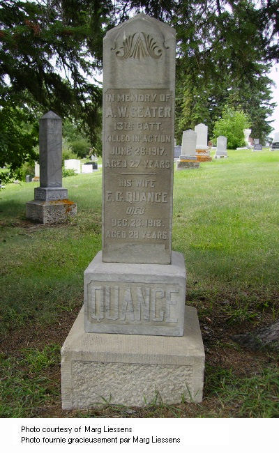Memorial in Calgary Union Cemetery