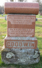 Family Memorial– Headstone of William Goodwin Family in Old Greenwood Cemetery, Sault Ste. Marie, Ontario, remembering Private Walter Goodwin. Photo provided by Padre Phil Miller, RCL, Branch 25, Sault Ste. Marie. We Will Remember Them.