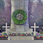 Memorial– The Cenotaph at Memorial Park in St. Catharines, Ontario, was dedicated on August 7th, 1927 by the Prince of Wales (future King Edward VIII), and unveiled by Brigadier General W. B. M. King, C.M.G., D.S.O.  The names of St. Catharines men who died as a result of their service during World War I are listed on two bronze tablets located at City Hall.