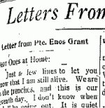 Newspaper Clipping– From the Temiskaming Speaker for 20 August 1915.