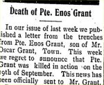 Newspaper Clipping (3)– Clipping from the Temiskaming Speaker for 13 October 1916.