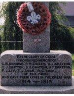 Inscription – Inscription figurant sur le monument aux morts de Landkey, Angleterre.