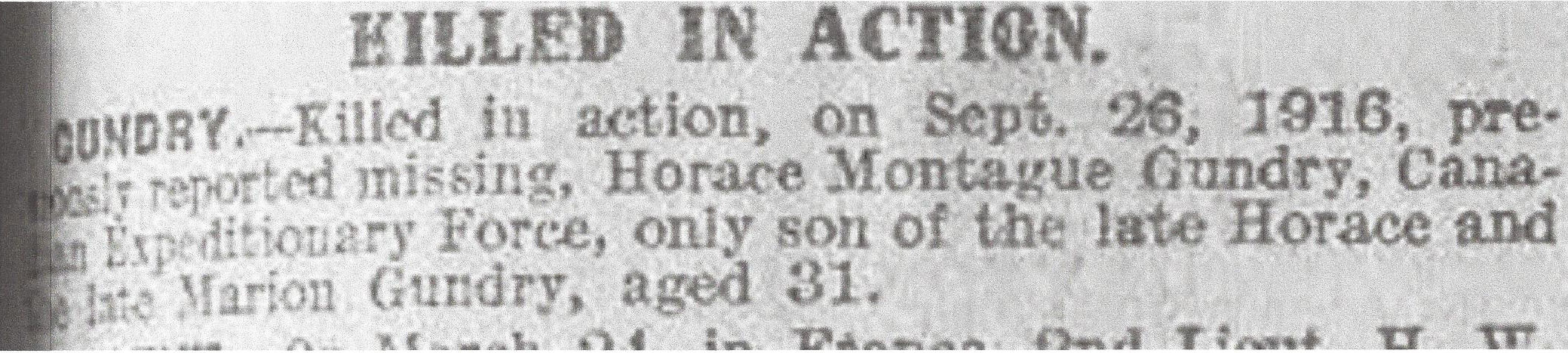 Newspaper Clipping– Newspaper clipping from Daily Telegraph of March 29, 1917. Image taken from web address of http://www.telegraph.co.uk/news/ww1-archive/12214419/Daily-Telegraph-March-29-1917.html
