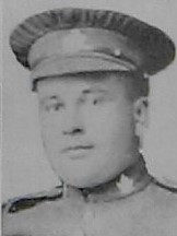 Photo of Arthur John Gunne– Pte Arthur Gunne as shown in the December 1918 edition of The Christmas Echo published in London Ontario
