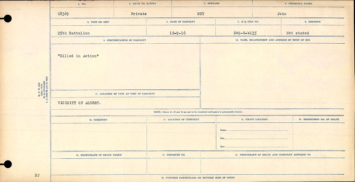 Circumstances of death registers– Circumstances of Death