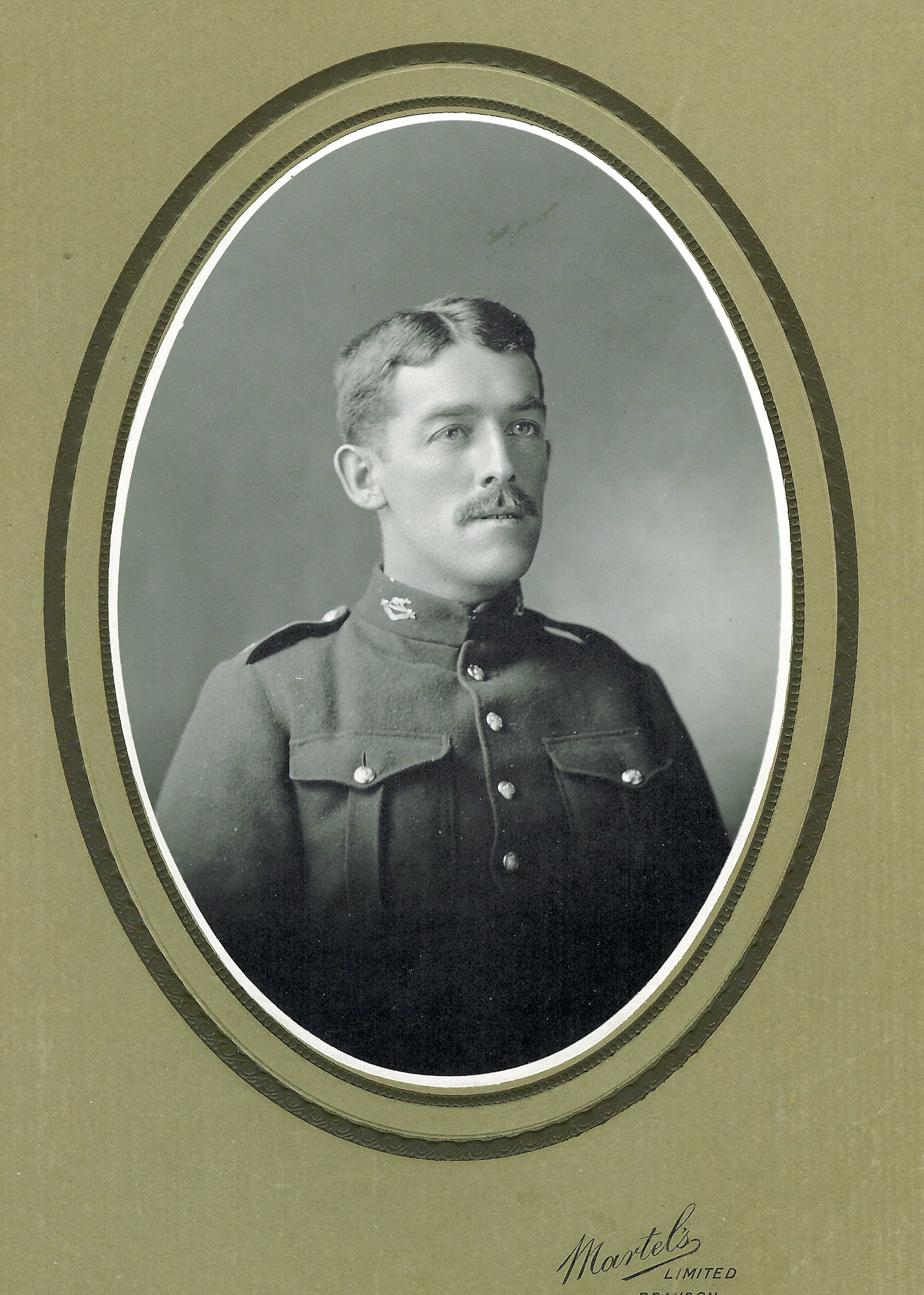 Photo of RICHARD HALLAM– Richard Hallam in uniform- son of Isaac and Elizabeth Hallam