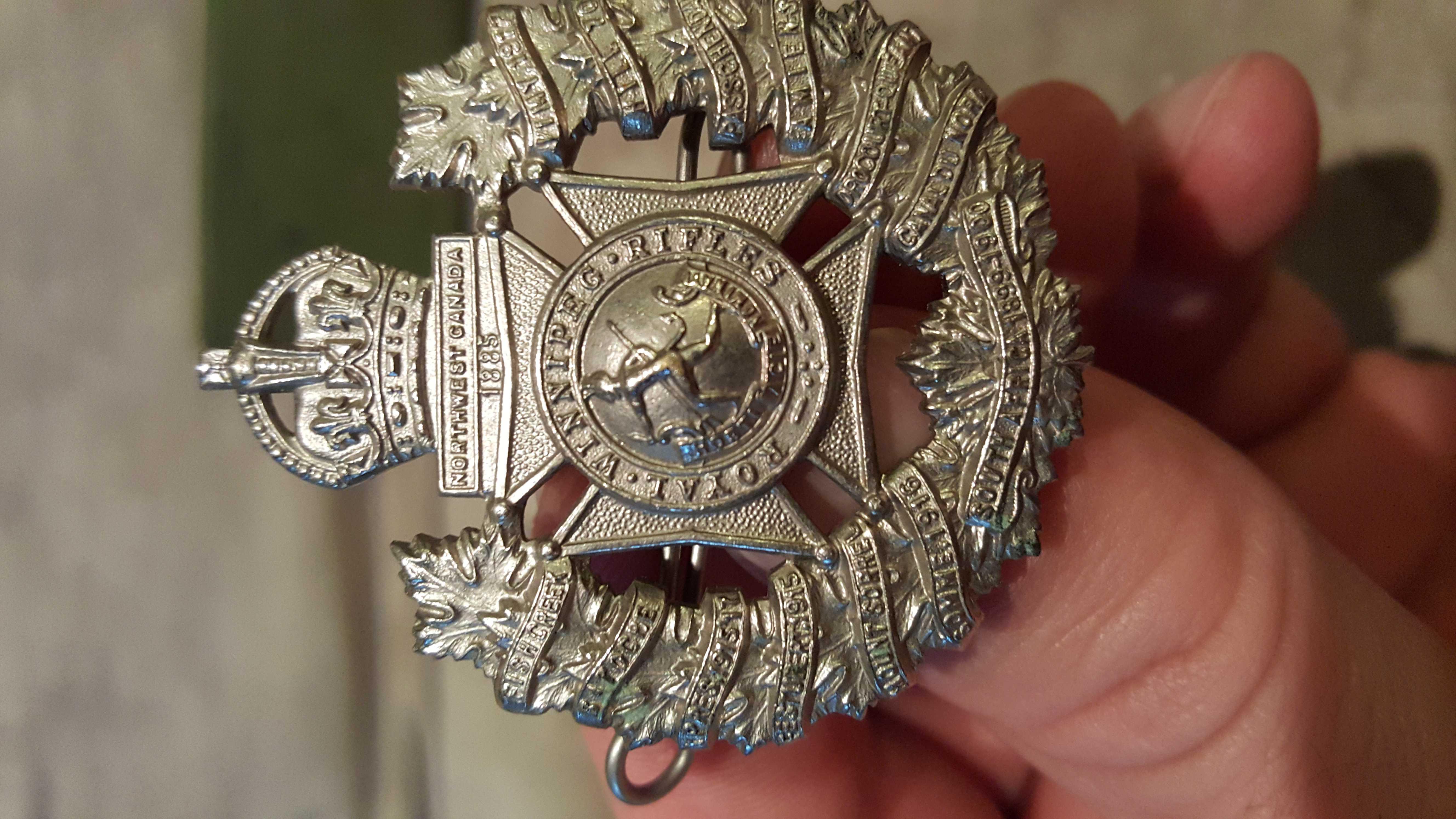 Cap Badge– Royal Winnipeg Rifles