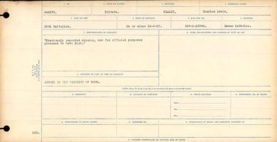 Circumstances of death registers– Private Charles Louis Healey