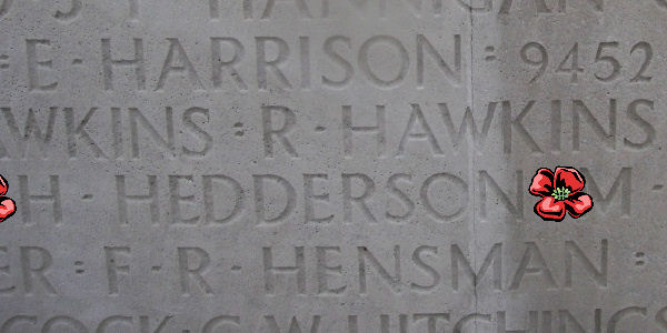 Memorial– Inscription - Vimy Memorial … photo courtesy of Marg Liessens