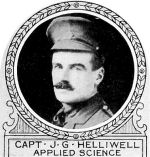 Photo of Joseph Helliwell– From: The Varsity Magazine Supplement published by The Students Administrative Council, University of Toronto 1918.  