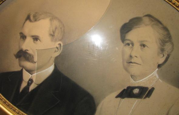 Group Photo– On the left is Duncan Herron father of William Herron and his stepmother Josephine Roy Herron.