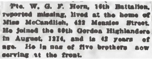 Newspaper clipping– From the Daily Colonist of May 23, 1915. Image taken from web address of https://archive.org/stream/dailycolonist57y141uvic#mode/1up
