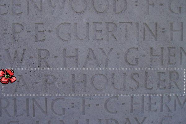 Inscription on Menin Gate– Inscription - Vimy Memorial, photo courtesy of Marg Liessens.