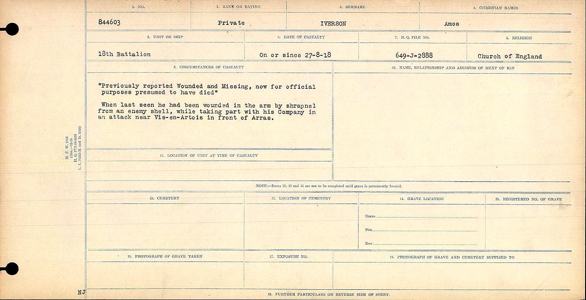 Death notice– Circumstances of Death Register
