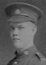 Photo of JOHNSTON DOUGLAS KIRKPATRICK– Shown as Jonathan D Kirkpatrick 34th Btn in the December 1918 edition of The Christmas Echo published in London Ontario  - And in the Morning