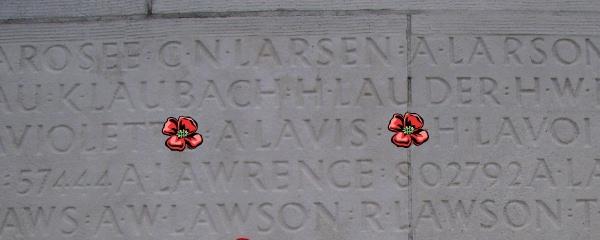 Inscription– Vimy Memorial - August 2012 … Photo courtesy of Marg Liessens