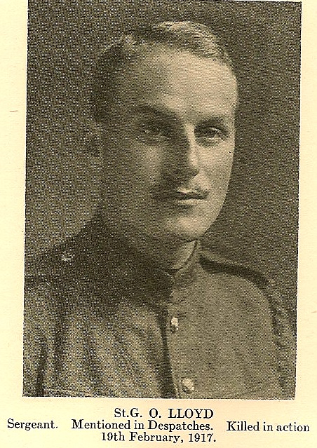 Photo of ST GEORGE OTWAY LLOYD– In memory of the employees from the Canadian Bank Of Commerce (CIBC) who went to war and did not return. Submitted for the project, Operation: Picture Me