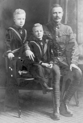 Family photo– Sam Loghrin with his sons Fritz (Sam) and Radcliffe.  Photo taken at the Samuel Askin Studio in Stratford, Ont. and among those inherited by Tom Loghrin from his parents.  Via: http://www.loghrin.info/