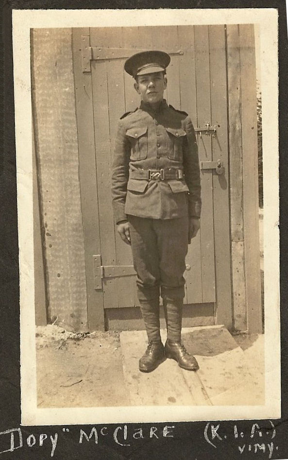 Photo of Percy McClare– Submitted for the project, Operation Picture Me