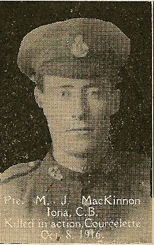 Photo of MALCOLM JOSEPH MCKINNON– From the book, Catholics of the Diocese of Antigonish, Nova Scotia and the Great War 1914- 1919.